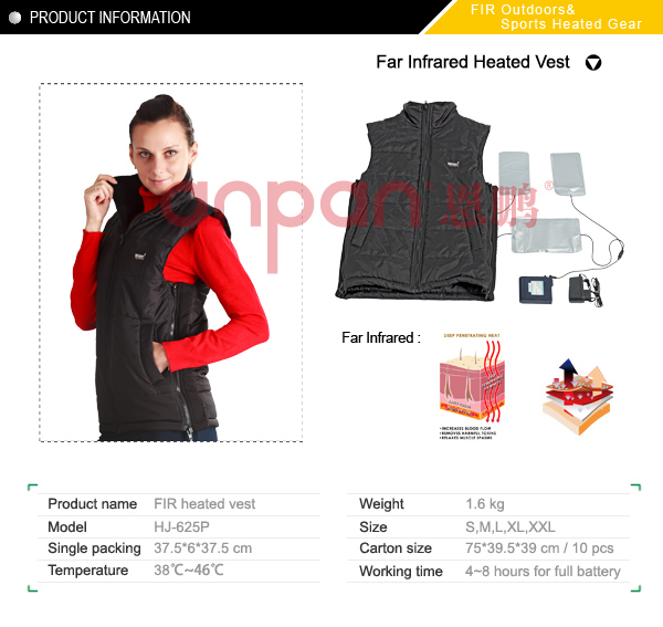 Far infrared Heated Insulation Vest