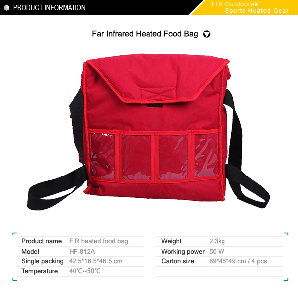 Far Infrared Heated Food Bag